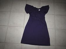 Express Women's Stretch Purple Dress XS NWT Empire Waist Flutter Sleeve X Small