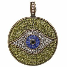 Kirks Folly All Seeing Eye Magnetic Enhancer-Evil Eye-Brasstone, Olivine & Blue