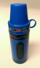 Blue CRAYOLA CRAYON shaped kid's school lunch INSULATED THERMOS drink bottle