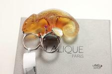 LALIQUE AMBER CRYSTAL CHAMELEON CAMELEON 925 SS MOUNTING RING, US-8/T56/UK-Q