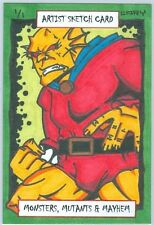 """""""ETRIGAN - The DEMON"""" AUTHENTIC HAND-DRAWN 1/1 SKETCH CARD/ 1 OF 1 /ACEO/By CARY"""
