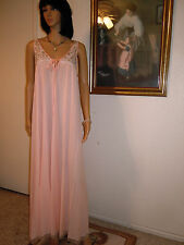 CLAIRE SANDRA by LUCIE ANN BEVERLY HILLS vintage CREAMSICLE Negligee size Medium