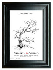 Wedding Guestbook FINGERPRINT TREE 20x30 modern keepsake, WEDDING GIFT, tree 107