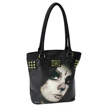 Sullen Loved Tote Handbag Black tattoo pinup girl rockabilly purse bag ink art