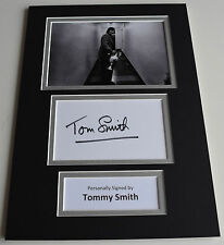 Tommy Smith Signed Autograph A4 photo display Liverpool Football AFTAL & COA