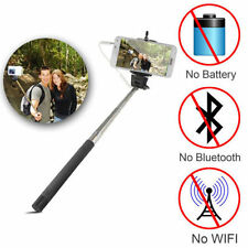 Monopod Selfie Stick Telescopic Wire Built-in Bluetooth Remote cell Phone Holder