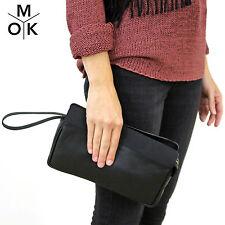 &other Stories Clutch Handtasche Tasche schwarz Leder neu Design Vintage (637)