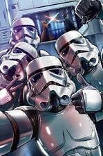 STAR WARS STORM TROOPERS  SELFIES  ART IMAGE A4 Poster Gloss Print Laminated