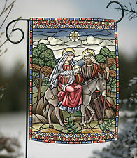 NEW Toland - Stained Glass Nativity - Jesus Birth Mary Joseph Garden Flag
