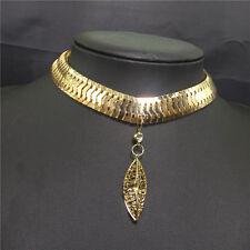 Luxury Crystal Metal Collar Chain Women Pendant Necklace Bib Choker Jewelry mx