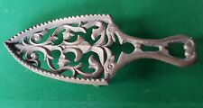 Antique Vintage Brass Trivet / iron stand - ornate - 3 footed
