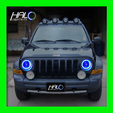 2002-2007 ORACLE LIGHTING Jeep Liberty Blue Plasma Headlight Halo Ring Kit