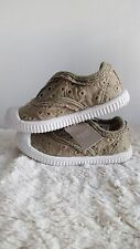 New NEXT Baby Girls Khaki Green Shoes Trainers Slipon Pumps UK 5 Infant EUR 21.5