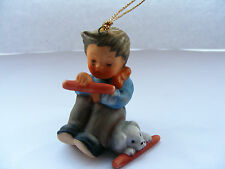 Hummel   /   Goebel   1997   Christmas   Tree   Ornament   Boy   With   His  Dog