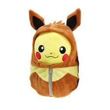 Pokemon Pikachu Robe Cosplay Brinquedos Brown Eyes Open Plush Toys