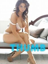 Joey Fisher - 8x6 inch Photograph #015 in White Stockings & Suede Stiletto's