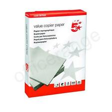 A4 5 Star White Copier/ Printer Office Copy Paper 2500 Sheets 5 Reams Box