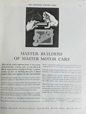 1929 Buick Master Builders of Master Motor Cars Original Ad
