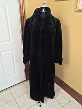 KARL LAGERFELD MAXIMILIAN BLOOMINGDALES FULL LENGTH BLACK SHEARED MINK FUR COAT