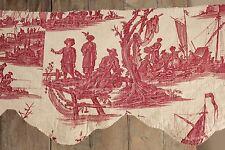 Antique French Toile de Jouy La Peche et le Commerce maritime 1785
