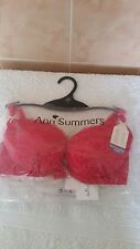 Ann Summers Sexy Red Plunge Bra Size 34C New With Tags In Packet With Hanger