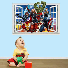 Home Removable Art Decor Decal Room 3D Window Avengers Super Hero Wall Sticker