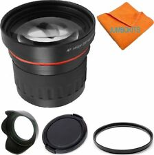 58MM 3.7X TELEPHOTO ZOOM LENS +UV FILTER+HOOD+CAP FOR CANON EOS REBEL T5 T6 T6S