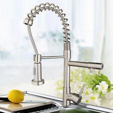 US Single Handle Brushed Nickel Finish Pull Out& Swivel Kitchen Sink Faucet Taps