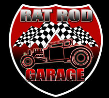 Rat Rod Garage 2-pack Vintage Style Hot Rod Decal Vinyl Sticker  DC 804