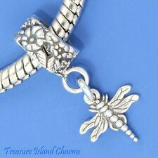 DRAGONFLY .925 Solid Sterling Silver EUROPEAN EURO Dangle Bead Charm