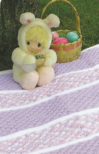 Crochet Pattern ~ EASTER BASKET BABY AFGHAN ~ Instructions