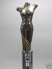 """ BRONZE LADY""  ( NUDE WOMAN'S TORSO)  BAR BEER TAP HANDLE DIRECT FROM RON LEE"