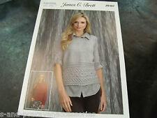James C Brett Double Knitting Pattern JB387 Sweater and Slipover