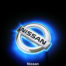 LED Car Tail Logo for Nissan Livina Auto Badge Light Blue light