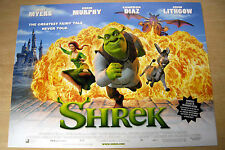 SHREK  ORIGINAL UK CINEMA POSTER  2001  MINIQUAD MINT CONDITION 16X12