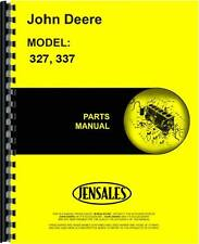 John Deere Baler Parts Manual (327 Baler | 337 Baler)