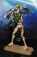 Figurine star wars rare camouflage battle droid + support + arme hasbro 2008