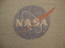 NASA National Aeronautics and Space Administration Logo Fan Gray T Shirt 2XL