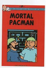 Carte postale Les pastiches de Tintin. MORTAL PACMAN. Tirage limité Czarlitz.