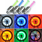 4 LED NEON VALVE DUST CAP LIGHT CAR VAN BIKE BMX WHEEL TYRE SPOKE SAFETY LAMP
