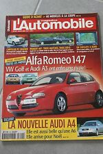 L'automobile - N° 649 - Chrysler PT Cruiser Peugeot 607 Audi A6 BMW 520d... 2000