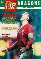 DRAGONS No 15 Feb 1994 RUGBY MAG SCOTT QUINNELL RUPERT MOON NEIL JENKINS GLYNDWR