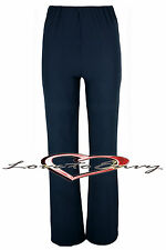 Ladies Ribbed STRETCH Bootleg Trousers In 3 Colours BLACK-NAVY-BROWN Size:10-26