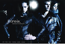 PUBLICITE ADVERTISING   2010   JITROIS  collection vetements cuir ( 2 pages)
