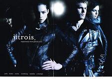 PUBLICITE  2010   JITROIS  collection vetements cuir ( 2 pages)
