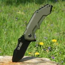 US ARMY Spring Assisted Open TACTICAL MILITARY Folding Rescue Pocket Blade Knife