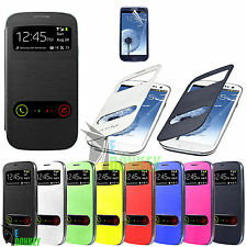 CUSTODIA CASE FLIP COVER VIEW LIBRO PER SAMSUNG GALAXY S3 MINI I8190 + PELLICOLA