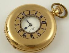 Antique Late 1880s Gold Plated Half Hunter Mechanical Pocket Watch  LAYBY