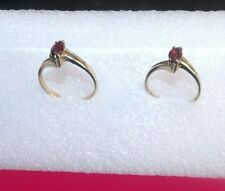 Ladies 10k Yellow Gold Red Ruby  OR  Garnet Gemstone Ring or Band Size  5.5