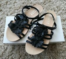 Office Black Leather sandals size 5 (38)